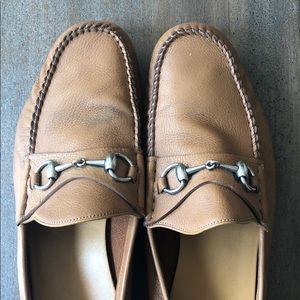 Gucci Camel Leather Loafers
